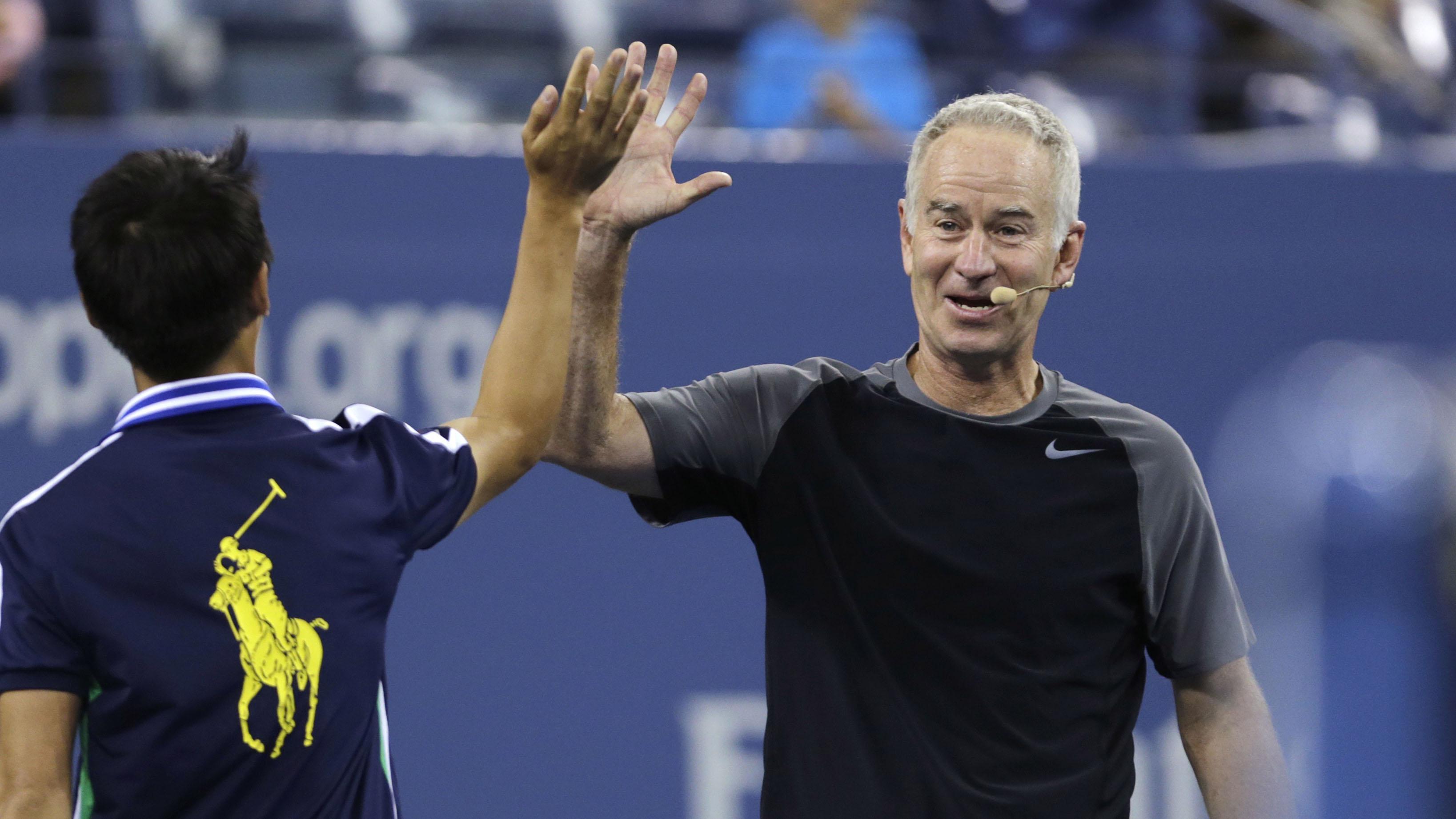 Serena Williams John McEnroe believes he could still take her