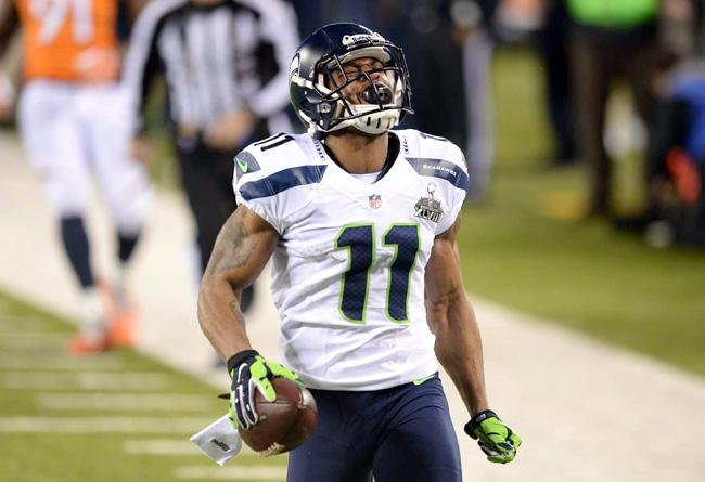 Harvin's kickoff return TD in Super Bowl XLVIII was the highlight of a tumultuous season-plus in Seattle. (Heinz Kluetmeier/Sports Illustrated)