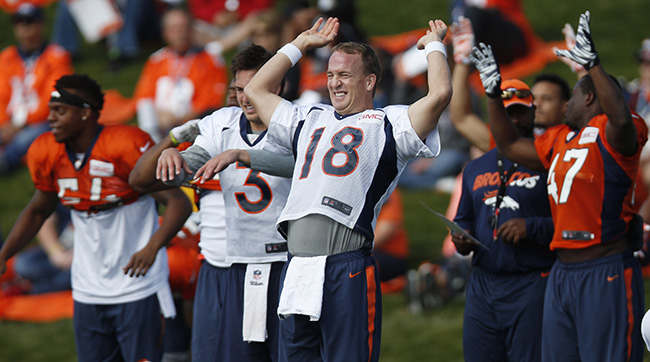 Broncos players are raving about Peyton's arm this camp.
