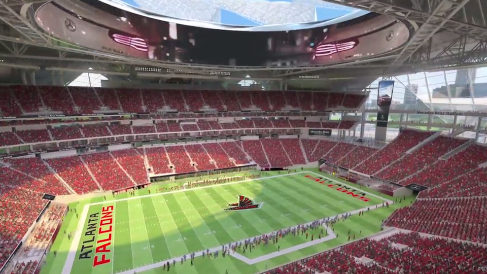 Sec championship game moves to new atlanta falcons stadium for Mercedes benz football