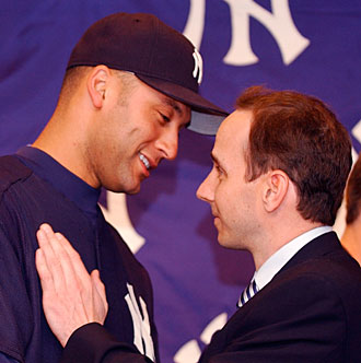 Derek Jeter was all smiles when he was named Yankees captain in 2003, but he took exception to Cashman's blunt appraisal of his skills seven years later.