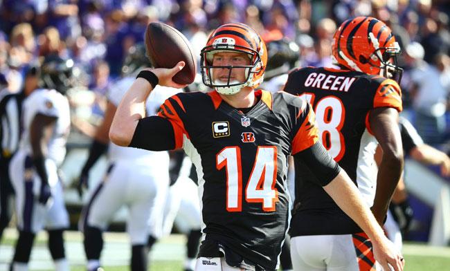 Cincinnati Bengals quarterback Andy Dalton. (Simon Bruty/SI/The MMQB)