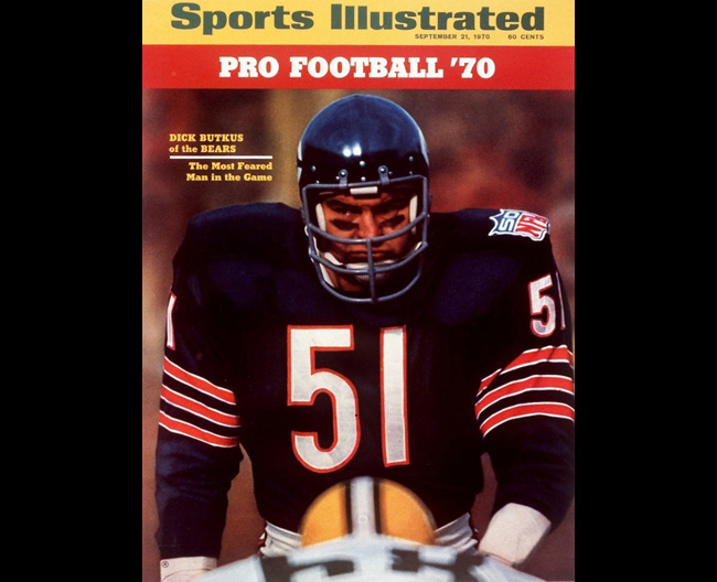 Butkus on the cover of that SI. (Neil Leifer/Sports Illustrated)
