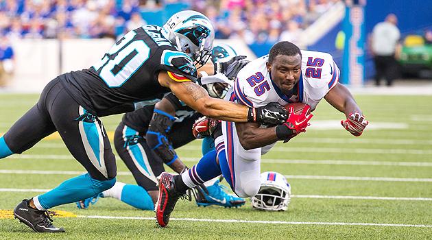 Buffalo Bills' LeSean McCoy is a risk in fantasy football this year.