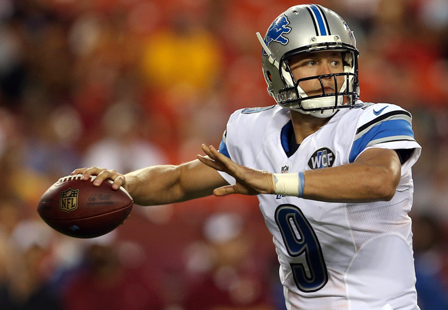 Matthew Stafford played generally mistake-free football last year. But with a likely need for more points, will the old gunslinger re-appear? (Matt Hazlett/Getty Images)