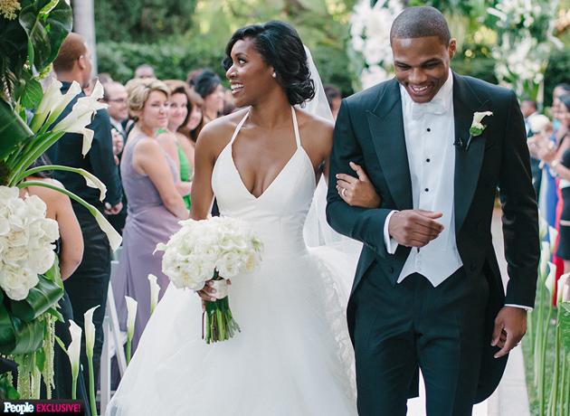 Russell Westbrook, Nina Earl wedding in Beverly Hills.