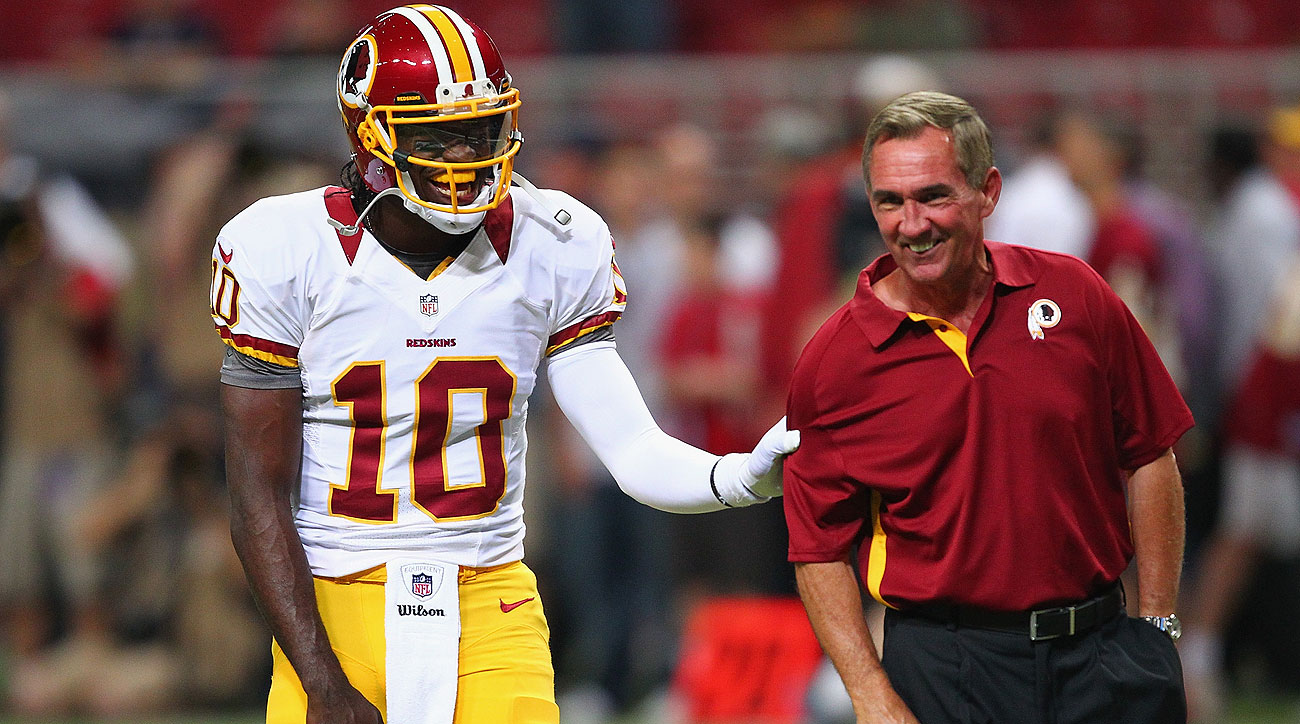RG3 and Mike Shanahan in 2012 (Dilip Vishwanat/Getty Images)