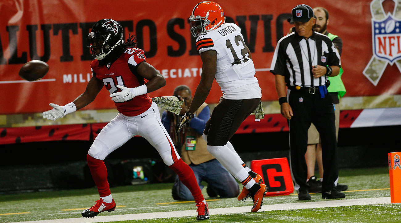 Desmond Trufant and Josh Gordon (John Bazemore/AP)
