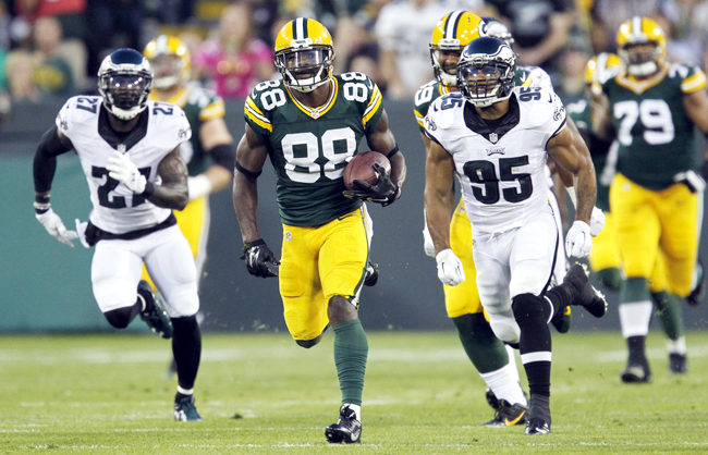 Rookie Ty Montgomery could open the year as Green Bay's No. 3 receiver.
