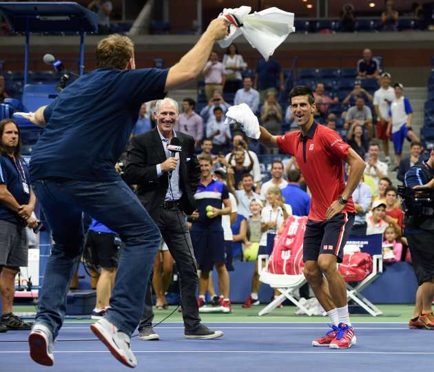 us-open-novak-djokovic-dance