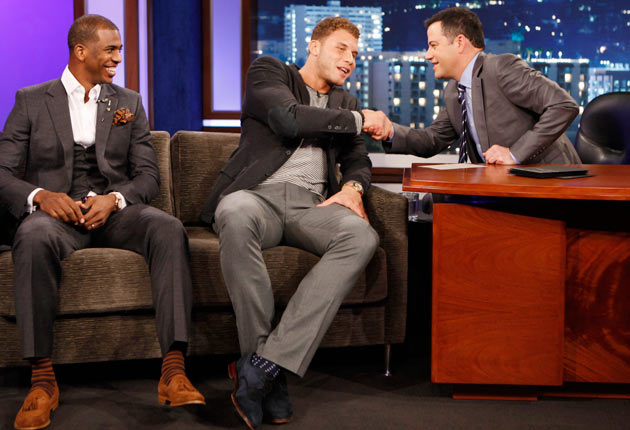 Chris Paul, Blake Griffin, Jimmy Kimmel