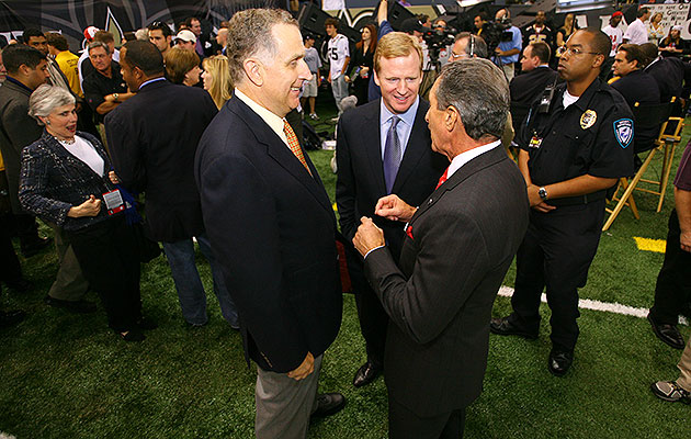 Roger Goodell, Paul Tagliabue and Arthur Blank