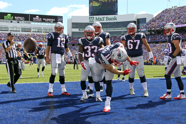The Patriots' offense spent plenty of time celebrating on Sunday after rolling up 40 points and more than 500 yards. But that's not the only reason they're No. 1.