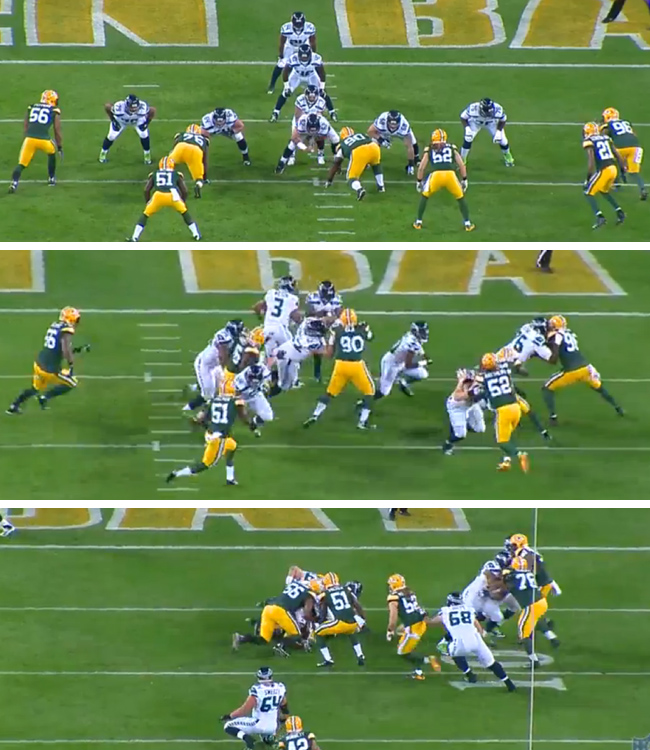 This play looked good pre-snap, but went bad fast.