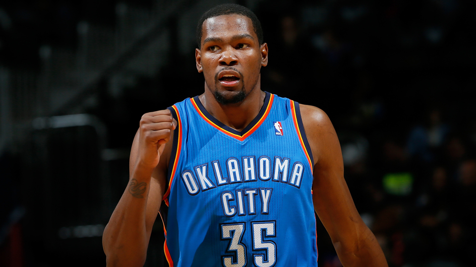 kevin durant Oklahoma city thunder cleared training camp