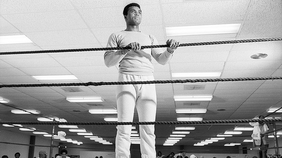 Muhammad Ali has heavy things on his mind