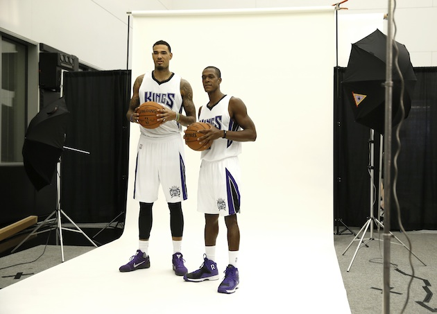 How will Willie Cauley-Stein (l) and Rajon Rondo (r) fit in George Karl's up-tempo system?