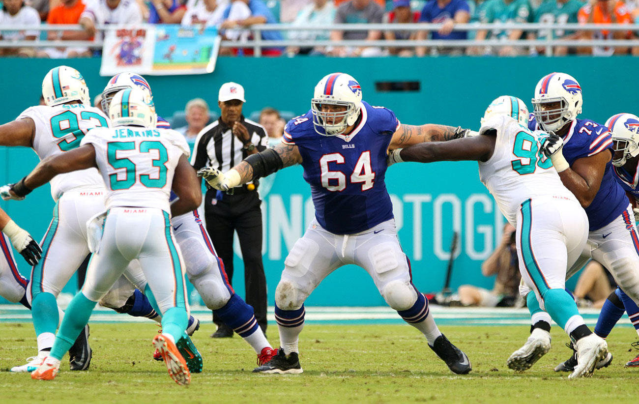 Richie Incognito of the Buffalo Bills against the Dolphins in Week 3.