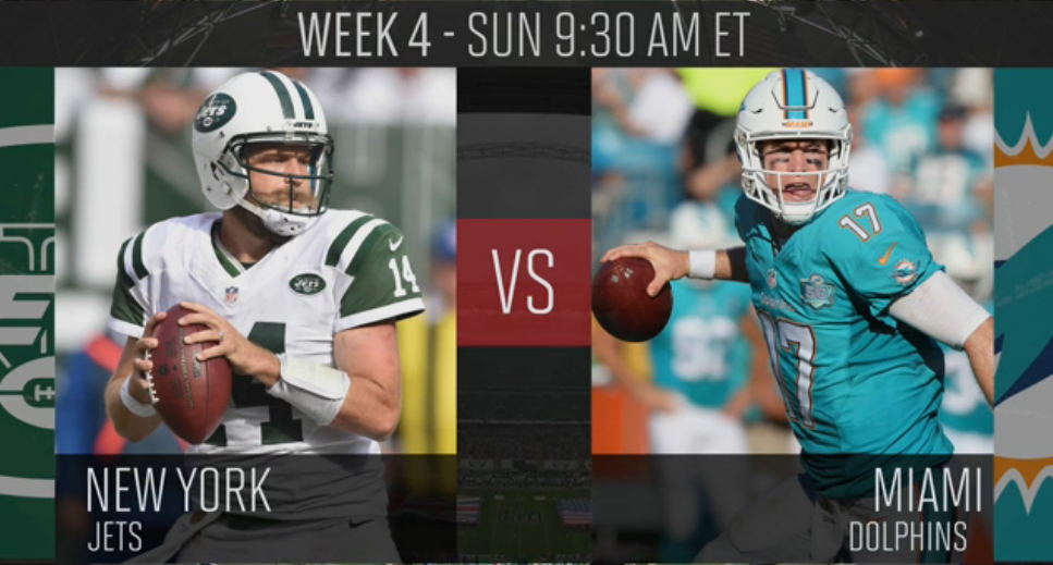 Jets and Dolphins play an early one in London