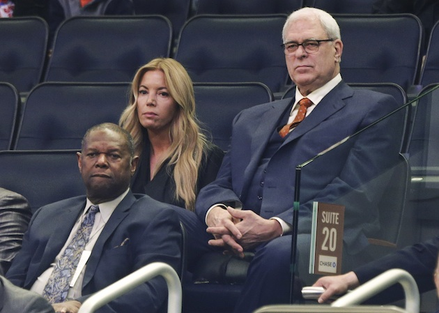 Phil Jackson and wife Jeanie Buss.