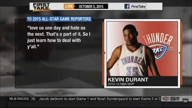 Kevin Durant's All-Star Game quotes generate controversy amidst Stephen A. Smith feud