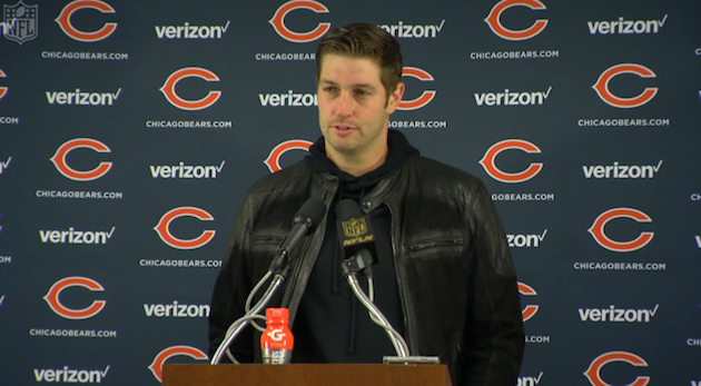 Jay Cutler of the Chicago Bears appears on the NFL's Week 4 fashion red carpet.