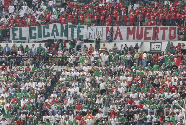 Fans at Estadio Azteca, USA vs. Mexico, 2005