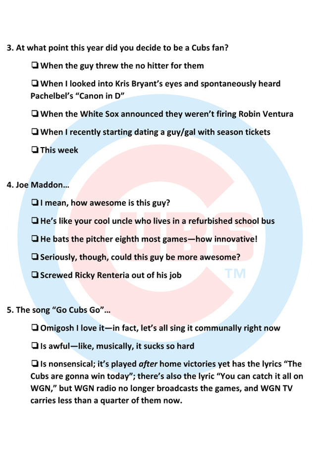 Chicago Cubs bandwagon fan application | SI.com