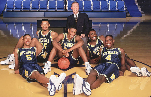 e00a329ff56a Jalen and the Fab Five with Michigan coach Steve Fischer.