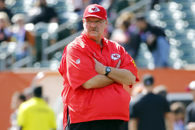 After that three-game stretch, Andy Reid needs a hug. (Paul Sancya/AP)