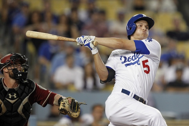 Corey Seager of the Los Angeles Dodgers takes a swing during a recent game agains the Arizona Diamondbacks.