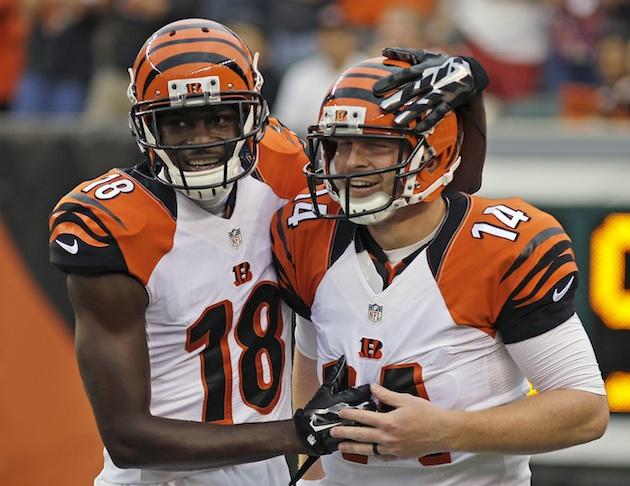 A.J. Green (r) and Andy Dalton (l), the Cincinnati Bengals' dynamic duo.