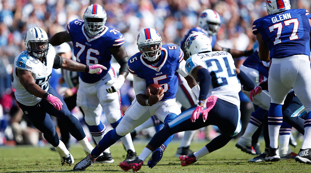 Tyrod Taylor ran for 76 yards and a touchdown—and threw for 109 more with another score—on Sunday.