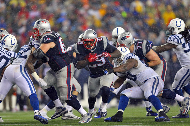 Patriots' LeGarrette Blount against the Colts in the AFC title game.
