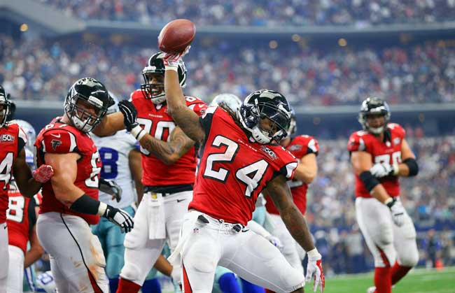 Atlanta Falcons running back Devonta Freeman.