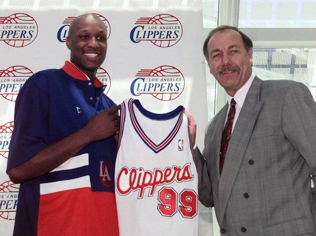 Lamar Odom after being drafted by the Los Angeles Clippers in 1999.