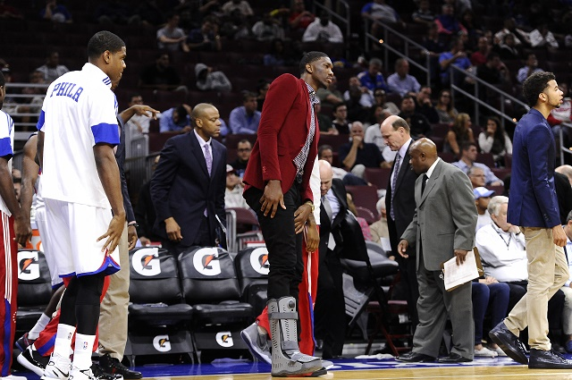 Joel Embiid has resisted wearing his walking boot, and it may have caused a re-injury of his foot