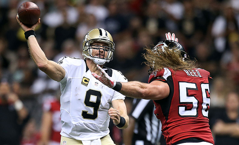 Drew Brees and the Saints handed the Falcons their first loss of the season.