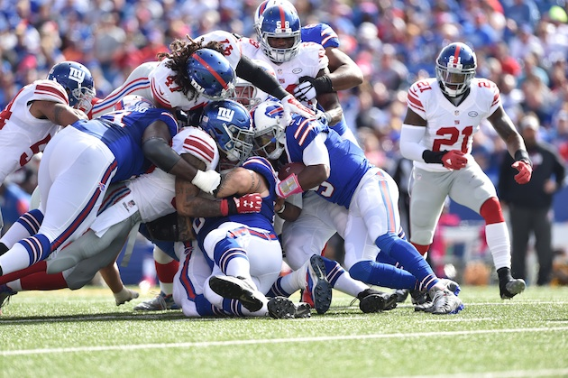 The stout New York Giants defense will be a challenge for the run-challenged Philadelphia Eagles