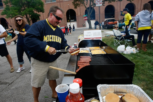 A tailgate prior to a 2010 University of Michigan football game in Ann Arbor, Michigan.