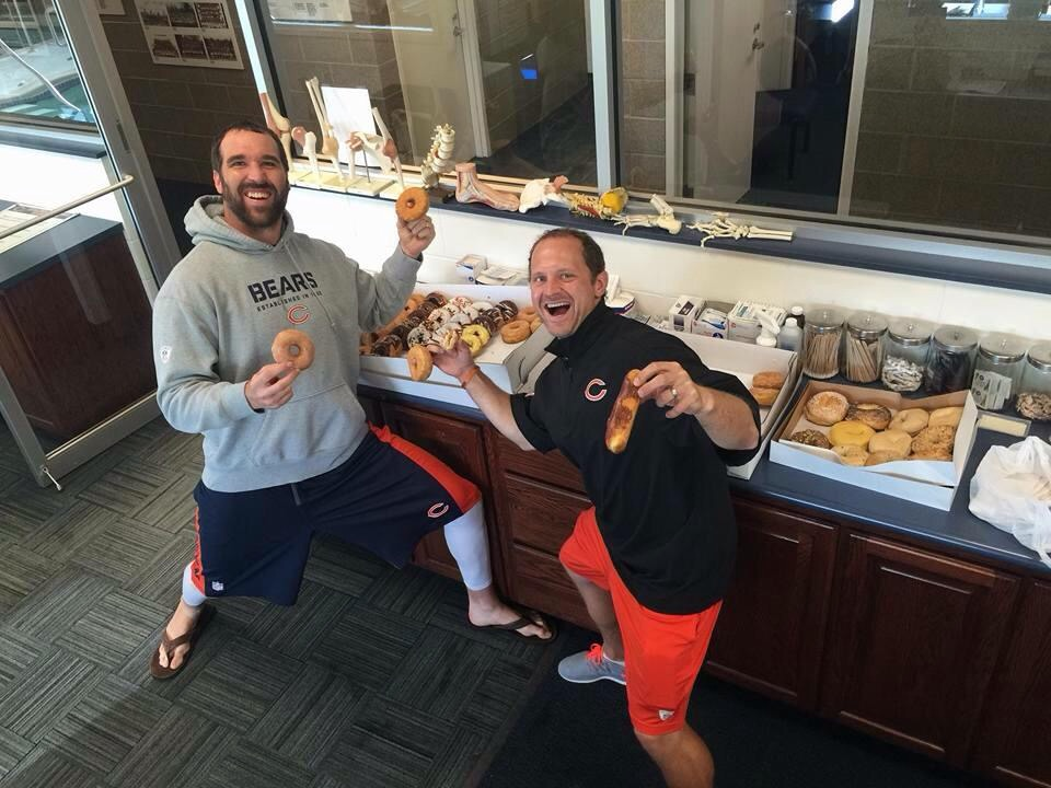Jared Allen's attempt at a Donut Club while in Chicago.
