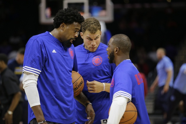 From left: DeAndre Jordan, Blake Griffin, and Chris Paul of the Los Angeles Clippers.