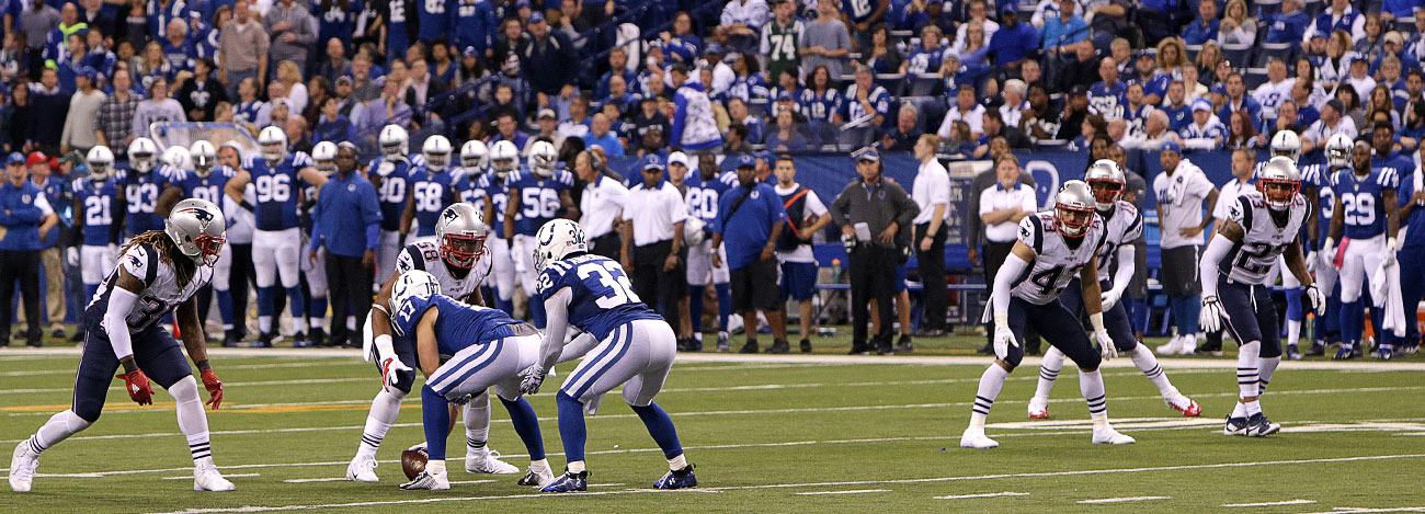 The Colts' failure on their bizarre fake punt led to a Patriots touchdown.