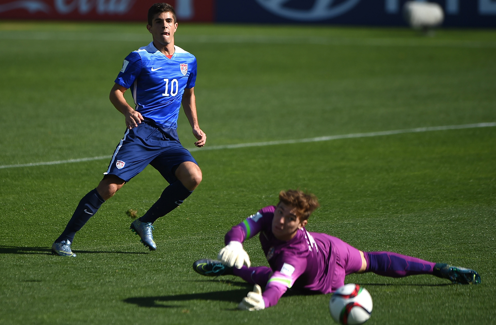 USA U-17 midfielder Christian Pulisic watches his opening goal find the back of the net in the Americans' 2-2 draw with Croatia at the World Cup. The U.S. led 2-0 on Pulisic's goal and assist to Brandon Vazquez, but the European side battled back.