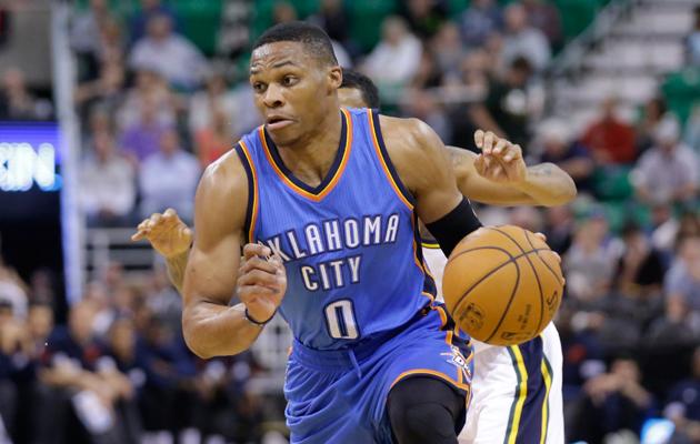 Russell Westbrook Kevin Durant Oklahoma City Thunder OKC