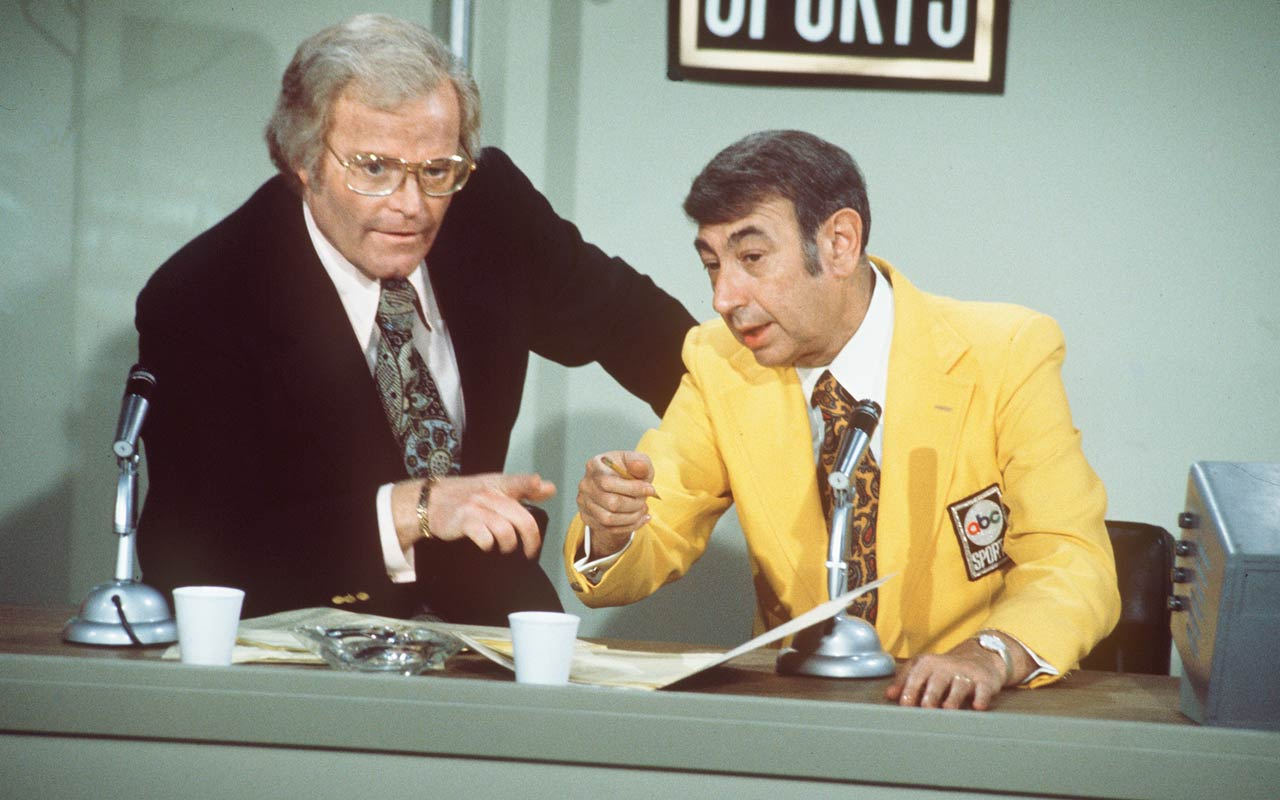 Roone Arledge and Howard Cosell :: Getty Images