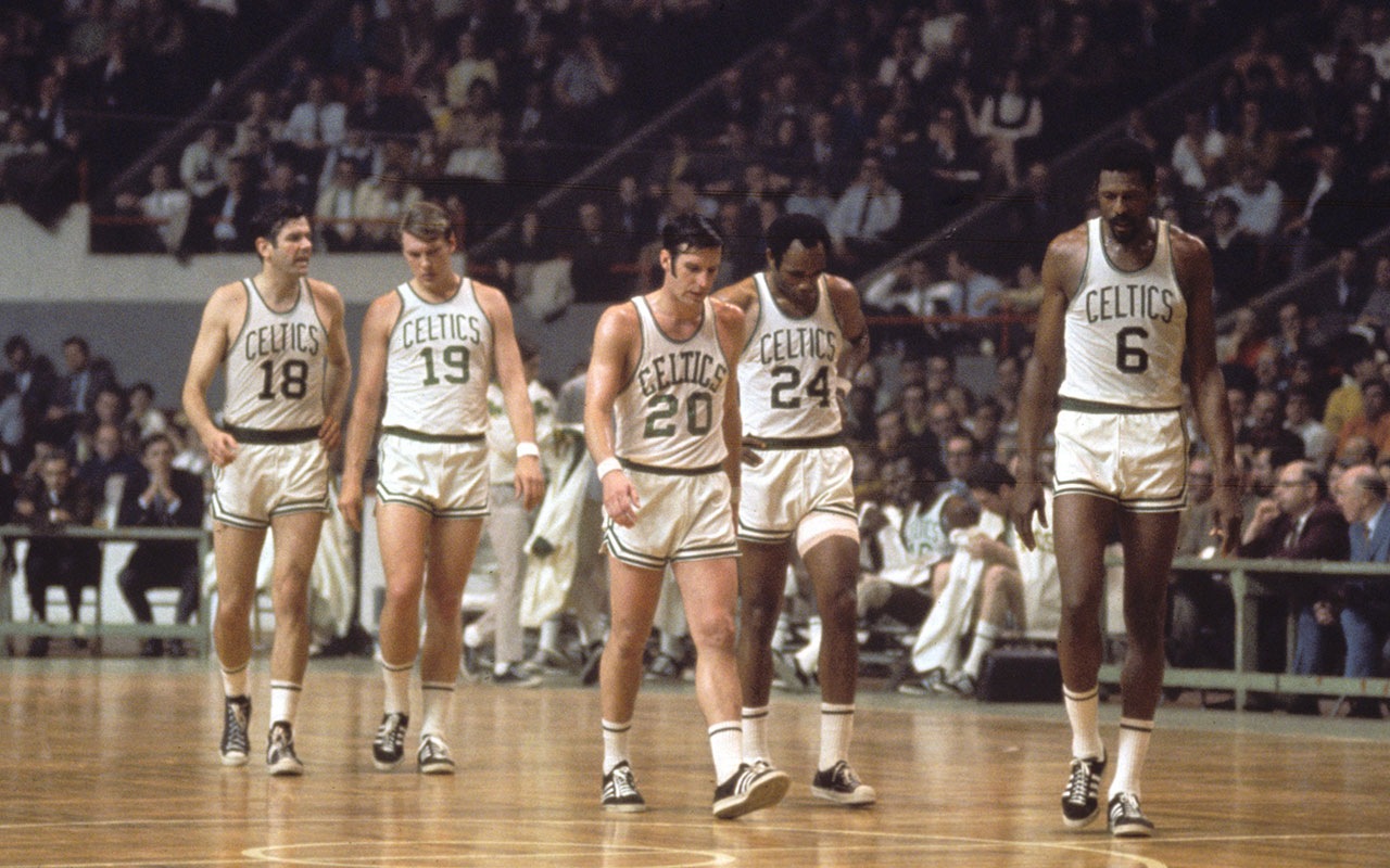 Bailey Howell Don Nelson Larry Siegfried Sam Jones And Bill Russell