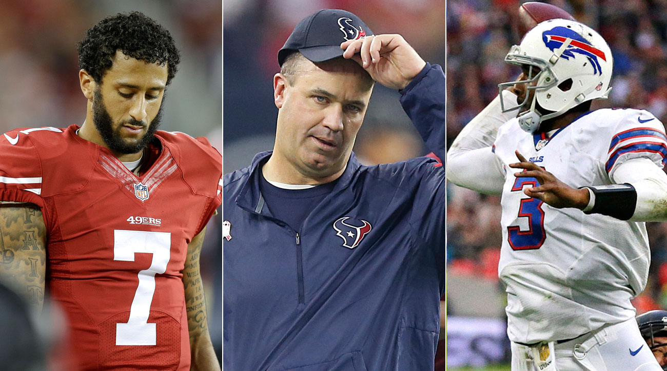 Colin Kaepernick of the 49ers, Bill O'Brien of the Texans, EJ Manuel of the Bills