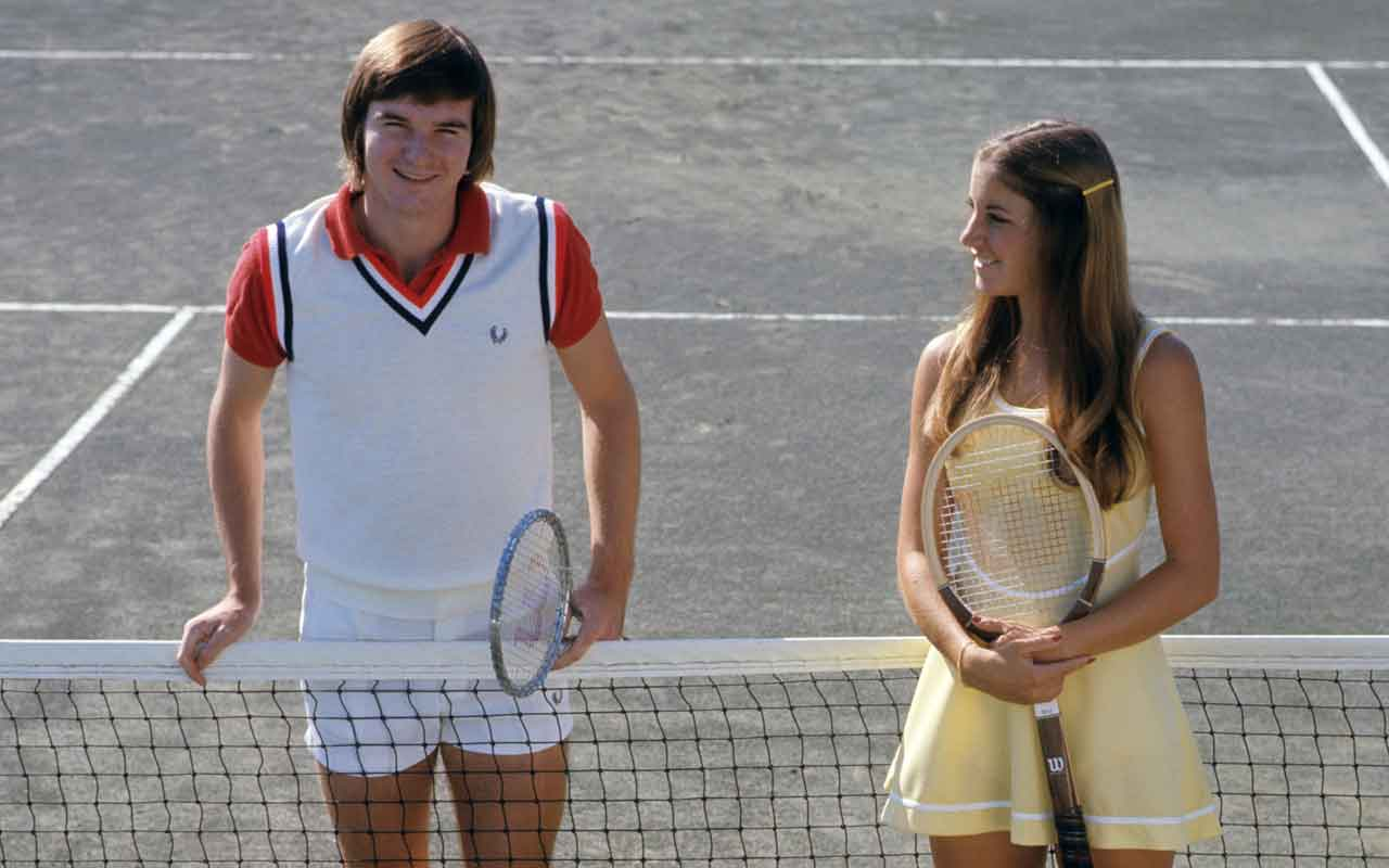 Jimmy Connors and Chris Evert :: TonyTriolo/SI