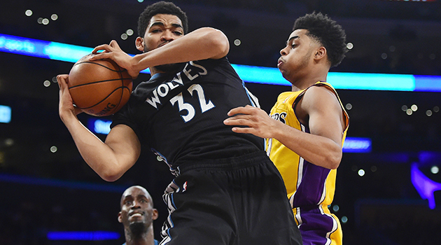 Karl-Anthony Towns D'Angelo Russell NBA debuts
